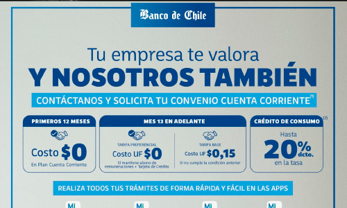 Plan Convenio Banco de Chile
